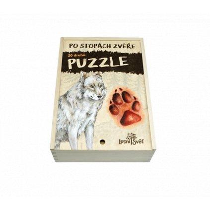 sada puzzle po stopach zvere 1295