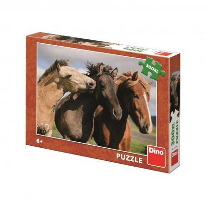 Puzzle BAREVNÍ KONĚ 300 XL