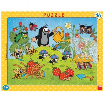 Puzzle KRTEK V JAHODÁCH 40 deskové