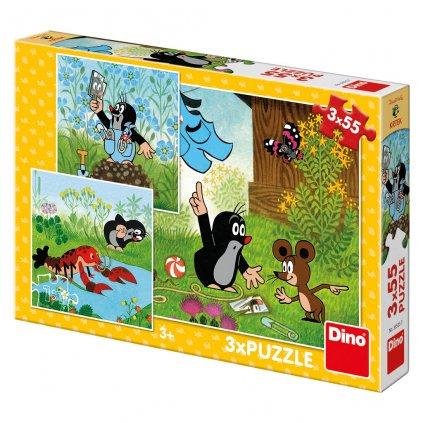 Puzzle KRTEČEK A KALHOTKY 3x55