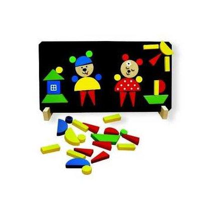 160 magneticke puzzle medvedi