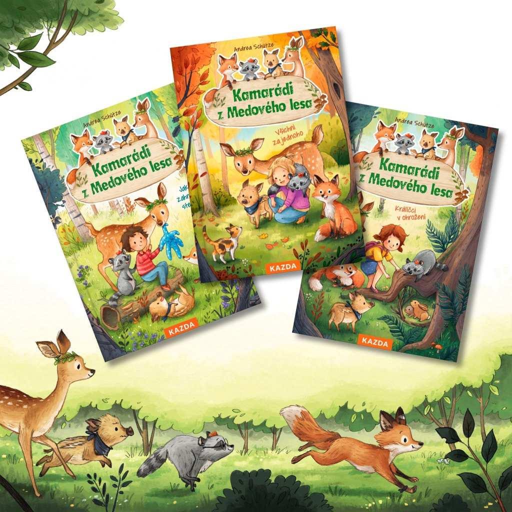 Levně Kamarádi z Medového lesa 1, 2 a 3