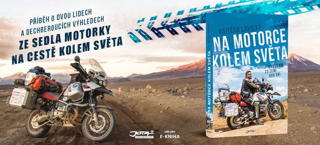 na motorce kolem světa - kniha