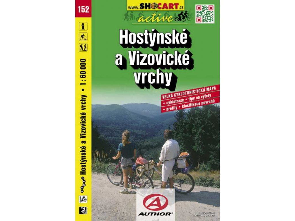 Hostýnské a Vizovické vrchy (cyklomapa č. 152)
