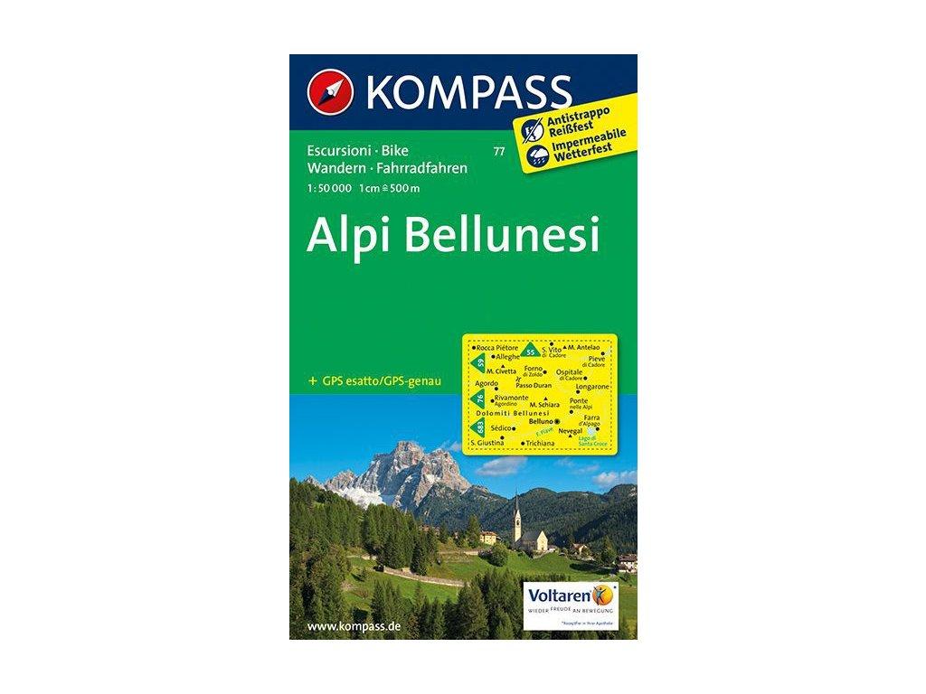 Alpi Bellunesi (Kompass - 77)