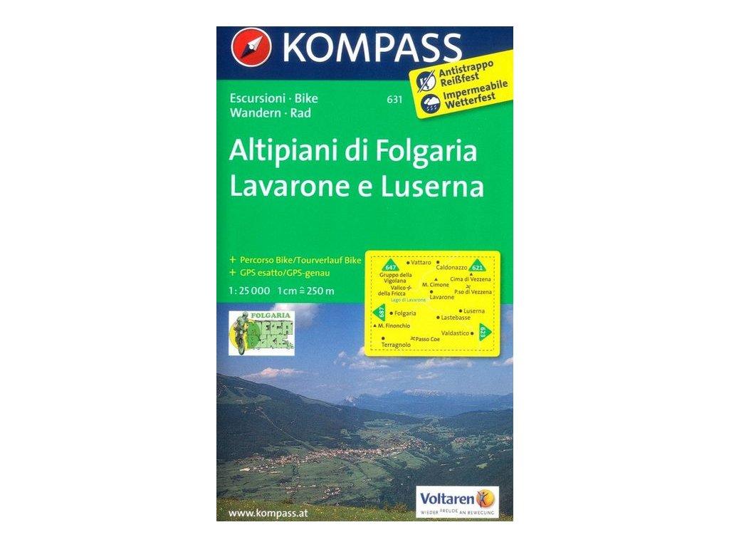 Altipiani di Folgaria, Lavarone e Luserna (Kompass - 631)