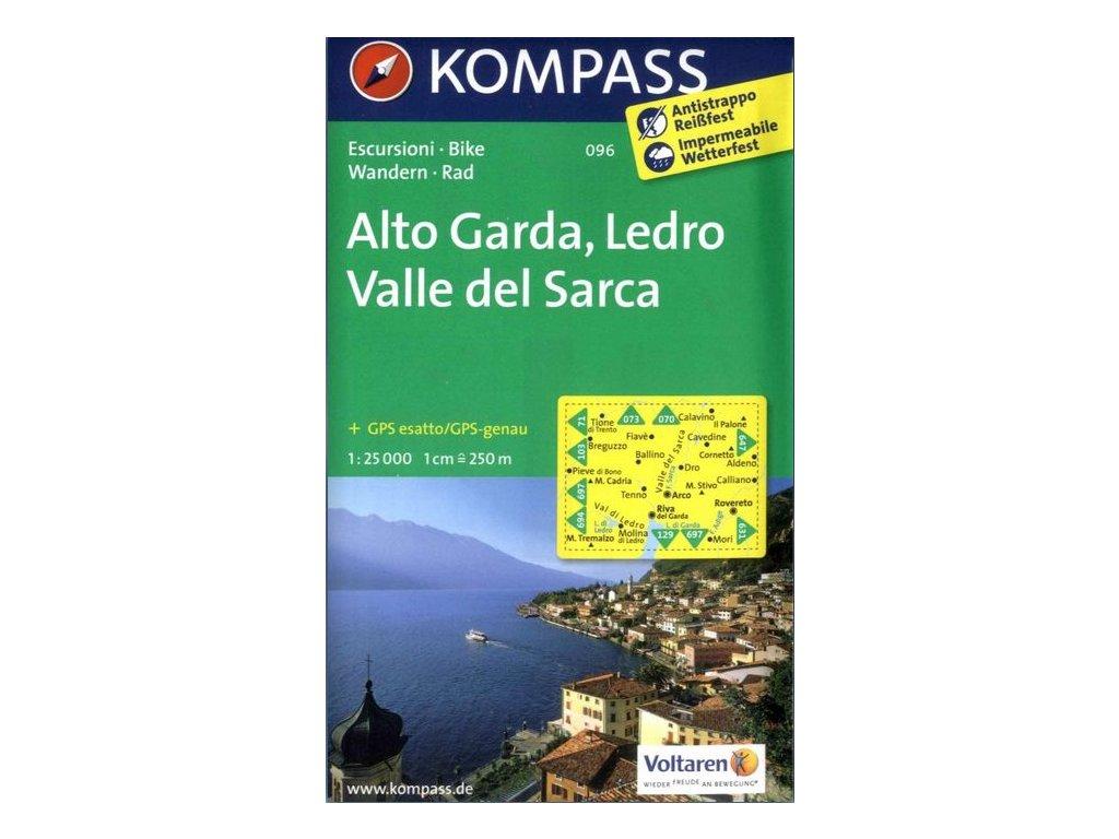 Alto Garda, Ledro, Valle del Sarca (Kompass - 096)