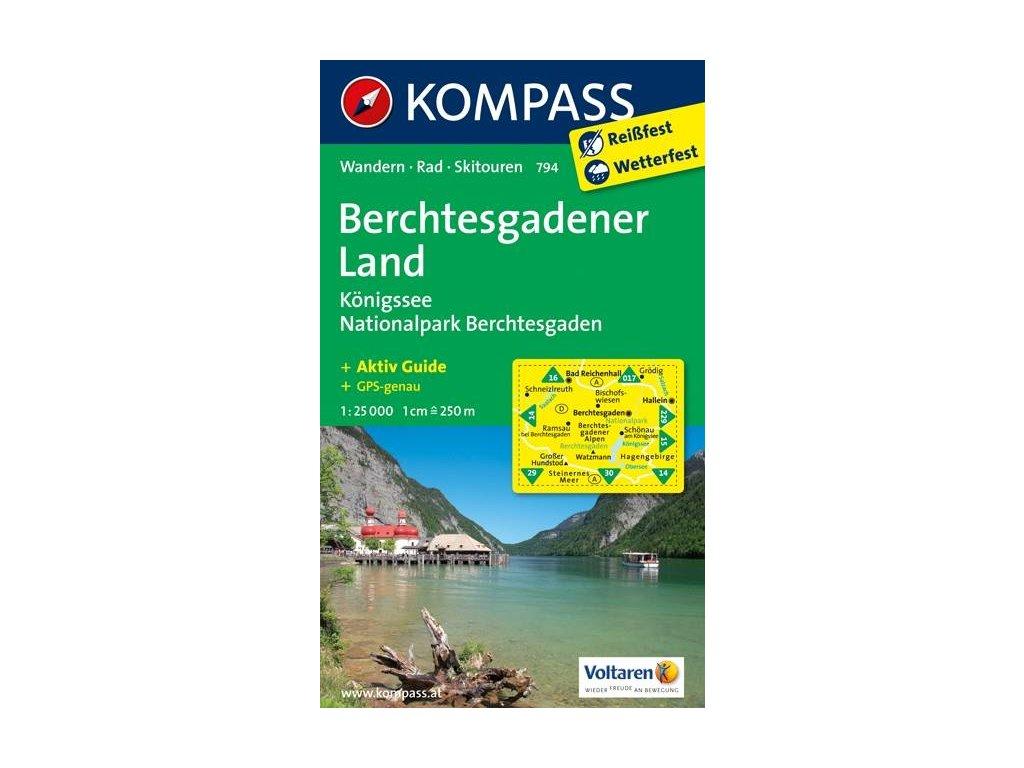 Berchtesgadener Land, Königssee, Národní park Berchtesgaden (Kompass – 794)