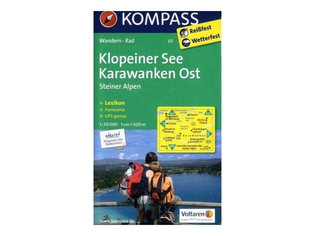 Klopeiner See, Karawanken Ost, Steiner Alpen (Kompass - 65)