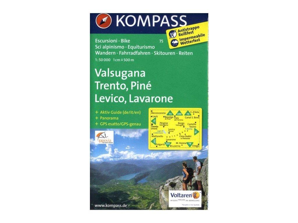 Valsugana, Trento, Piné, Lévico, Lavarone (Kompass - 75)