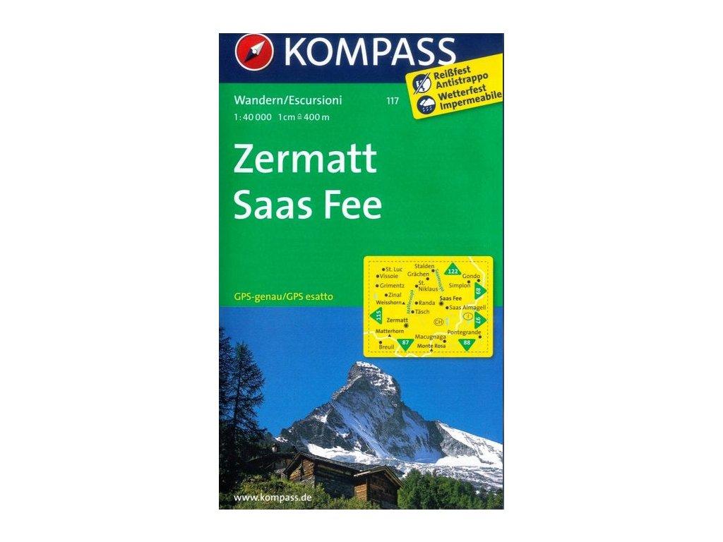 Zermatt, Saas Fee (Kompass - 117)