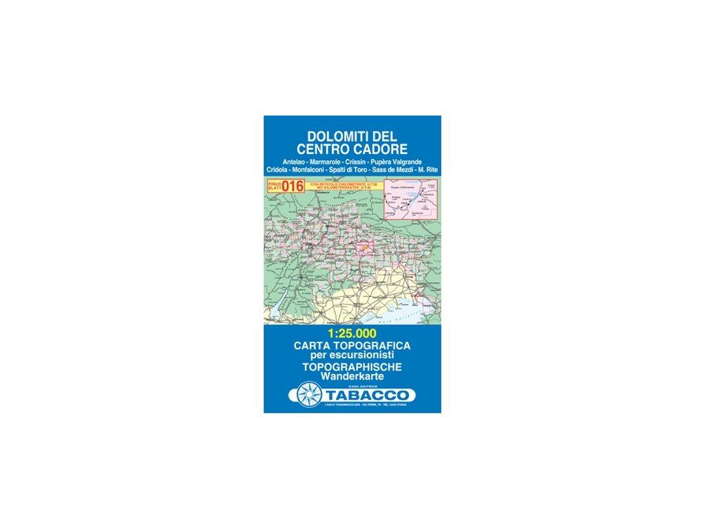 Dolomity oblast Cadore (Tabacco - 016)