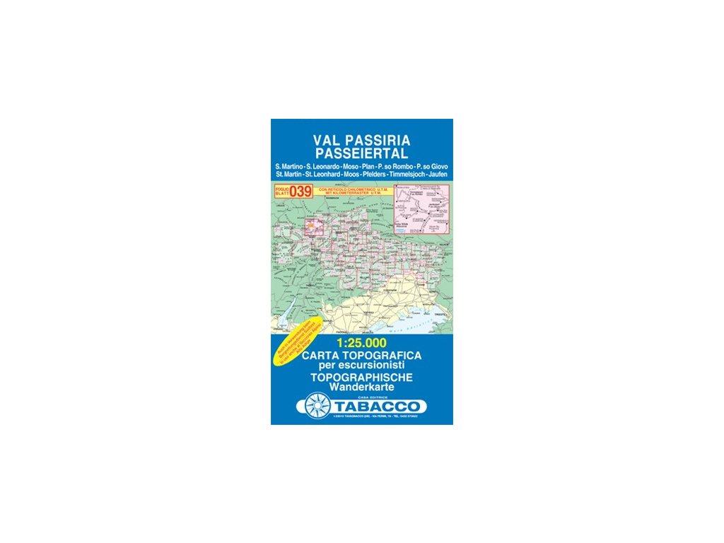 Val Passiria, Passeiertal (Tabacco - 039)