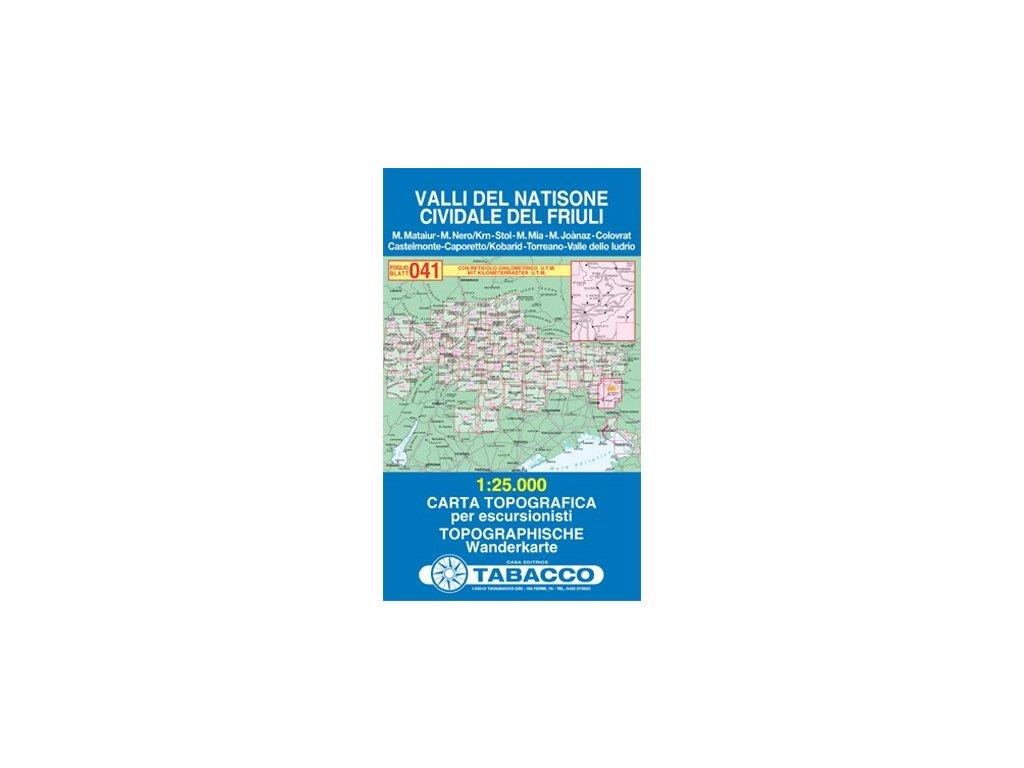 Valli del Natisone, Cividale del Friuli (Tabacco - 041)