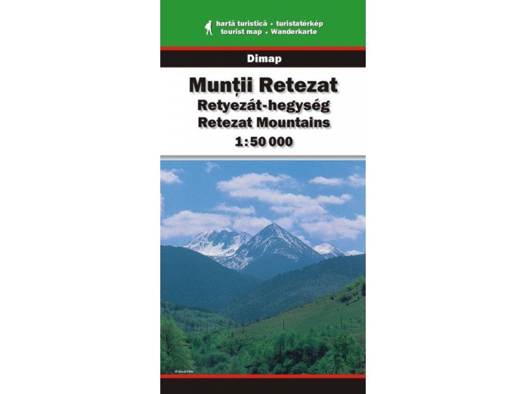 Muntii Retezat - turistická mapa