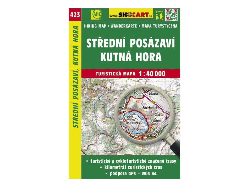 Střední Posázaví, Kutná Hora - turistická mapa č. 423