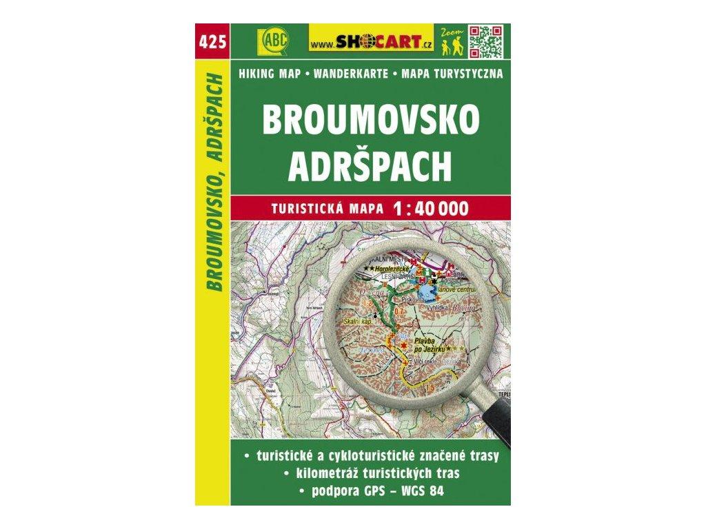 Broumovsko, Adršpach - turistická mapa č. 425