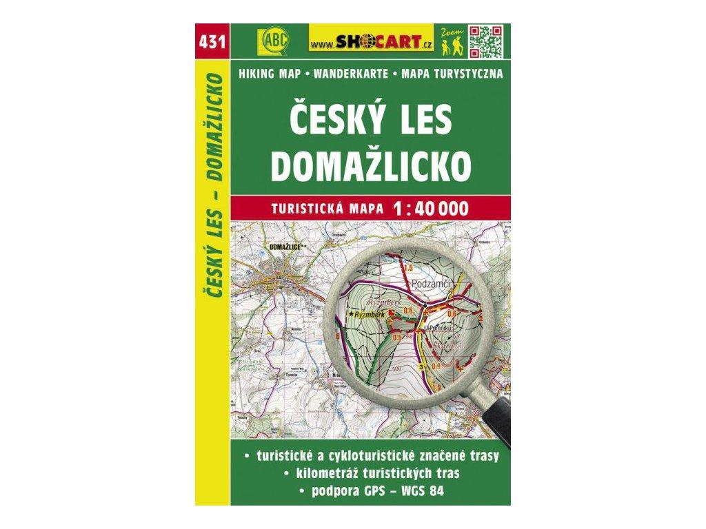 Český les - Domažlicko - turistická mapa č. 431