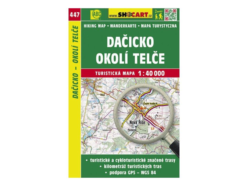Dačicko, okolí Telče - turistická mapa č. 447