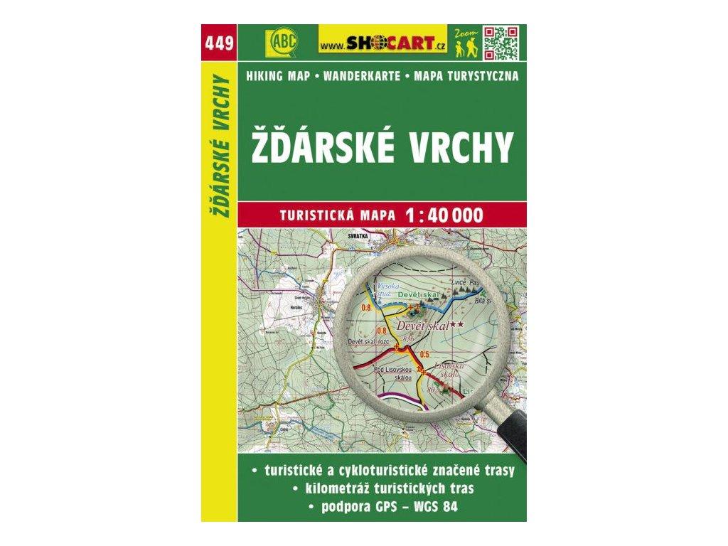 Žďárské vrchy - turistická mapa č. 449