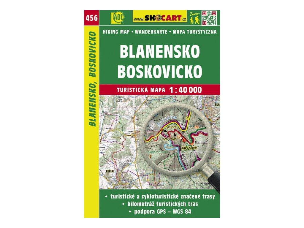 Blanensko, Boskovicko - turistická mapa č. 456