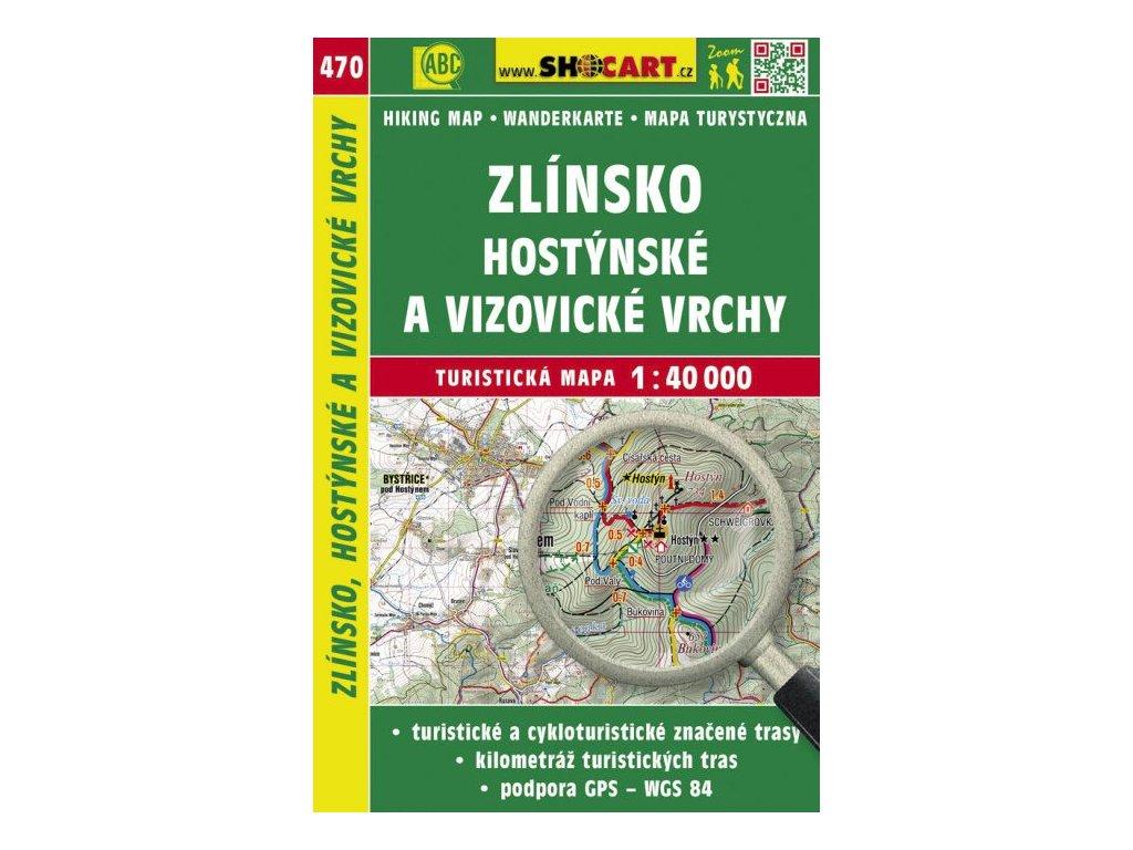 Zlínsko, Hostýnské a Vizovické vrchy - turistická mapa č. 470