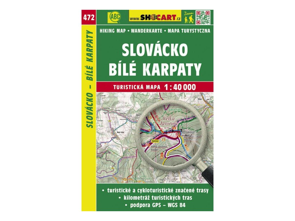Slovácko - Bílé Karpaty - turistická mapa č. 472