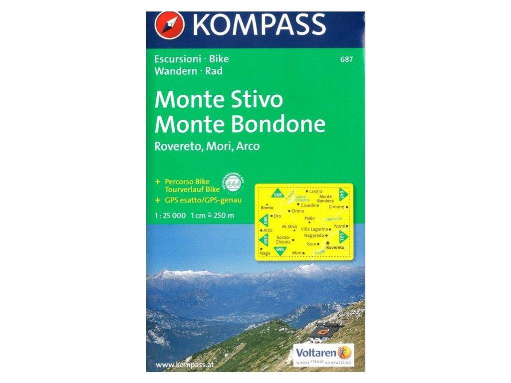 Monte Stivo, Bondone, Rovereto, Mori, Arco (Kompass - 687)