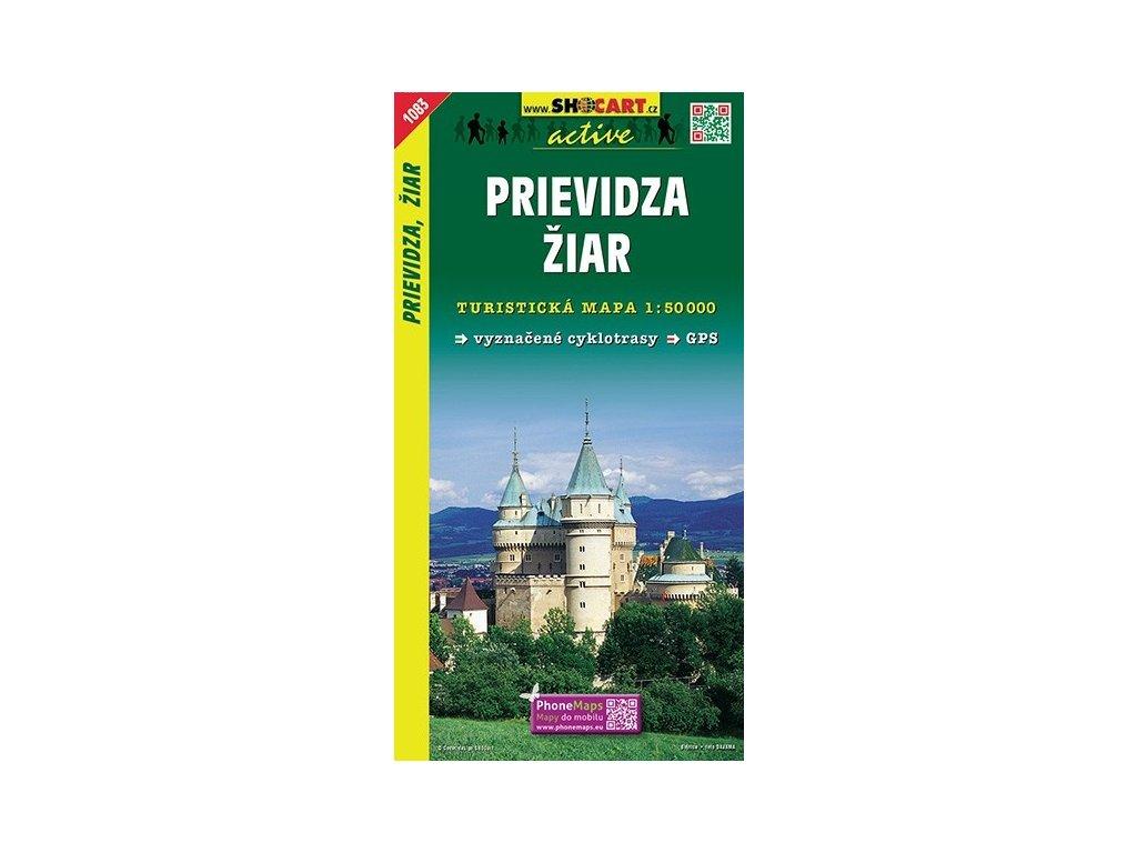 Prievidza,Žiar - turistická mapa (shocart č.1083)