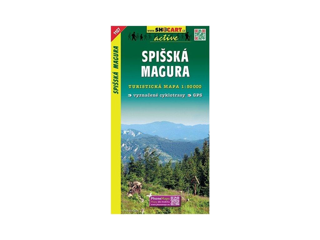 SpišskáMagura - turistická mapa (shocart č.1107)