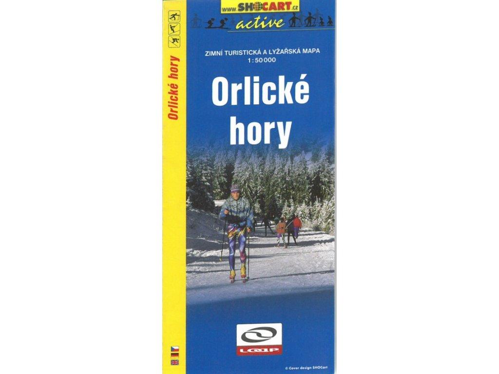 Orlické hory - zimní turistická a lyžařská mapa