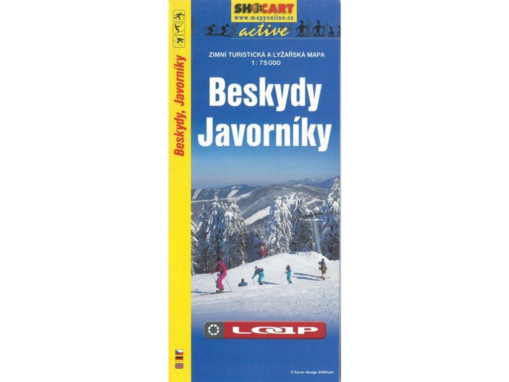 Beskydy a Javorníky - zimní turistická a lyžařská mapa