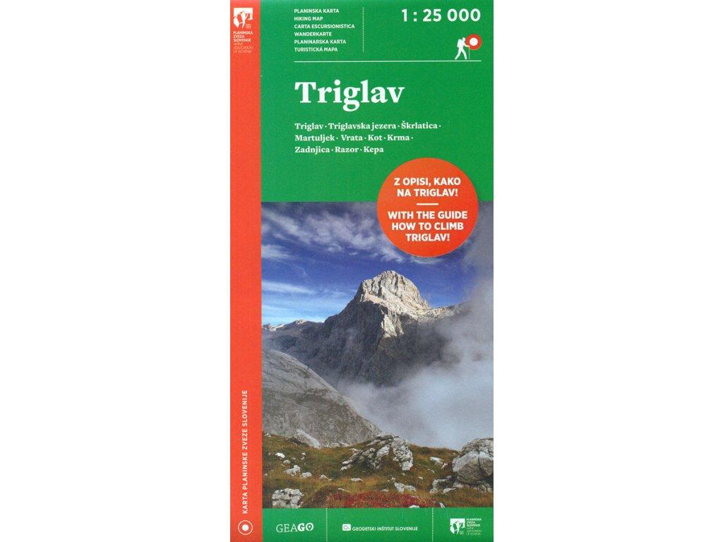 Triglav - turistická mapa