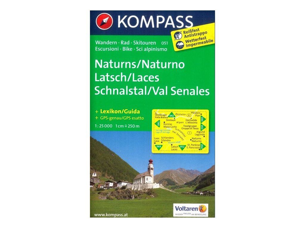Naturns, Naturno, Latsch, Laces, Schnalstal, Val (Kompass - 054)