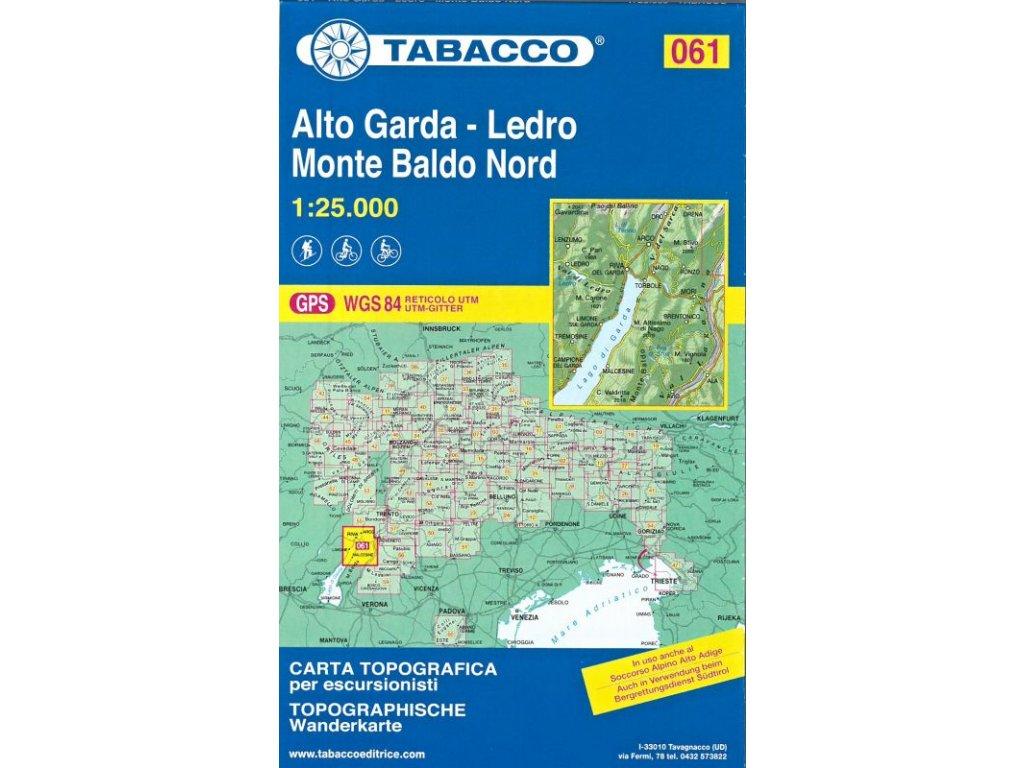 Alto Garda, Ledro, Monte Baldo (Tabacco - 061)