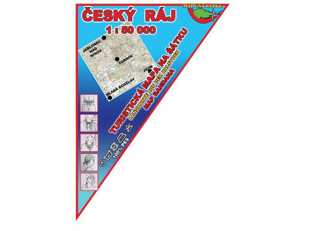 Český ráj - mapa na šátku