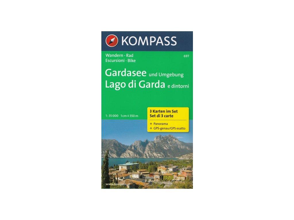 Lago di Garda a okolí (set 3 map, Kompass - 697)