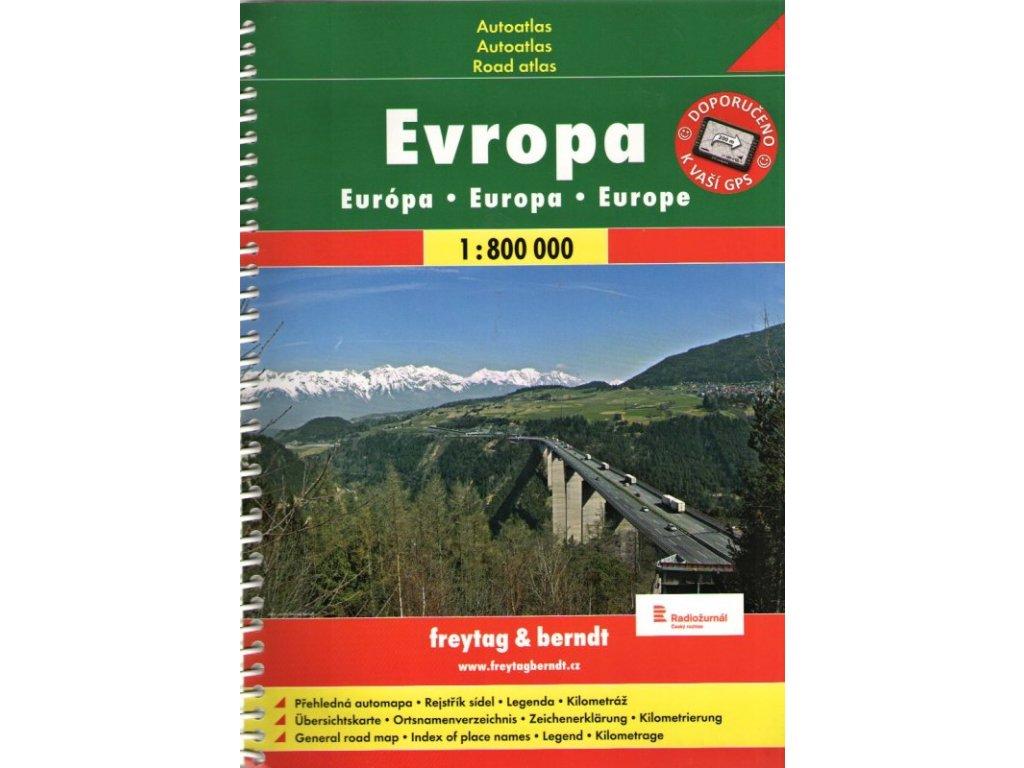 Evropa - autoatlas 1:800 000
