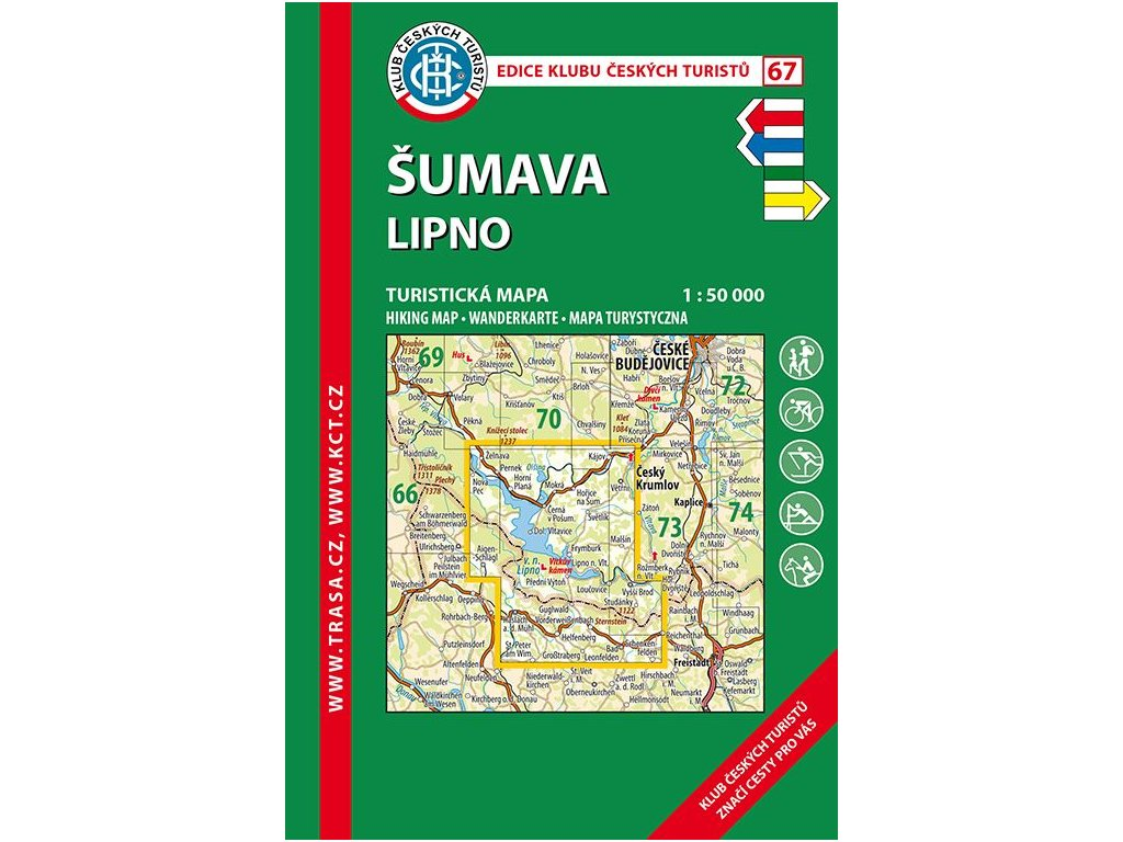 Šumava -  Lipno -  mapa KČT č.67