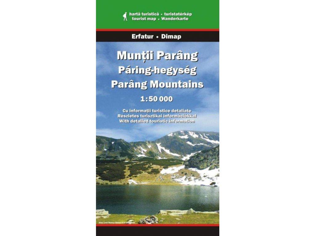 Muntii Parang (Paring) - turistická mapa