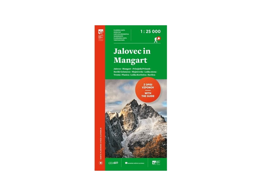Jalovec a Mangart - turistická mapa
