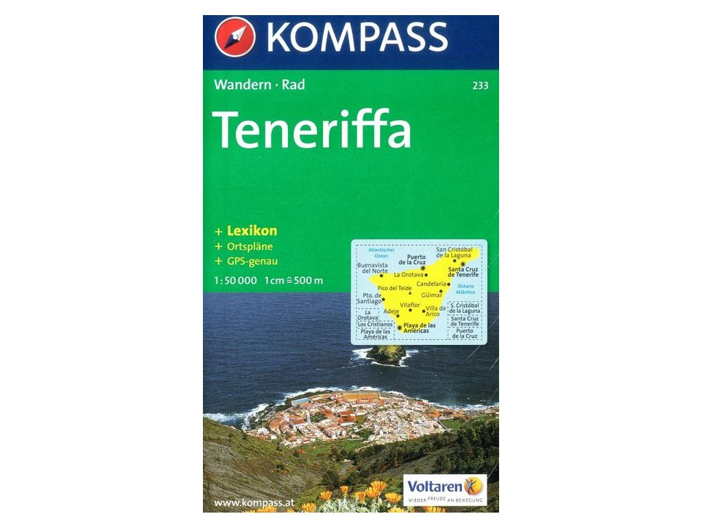 Teneriffa, Tenerife - turistická mapa (Kompass - 233)