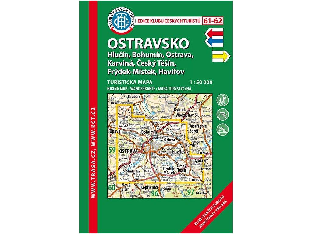 Ostravsko -  mapa KČT č.61 -  62