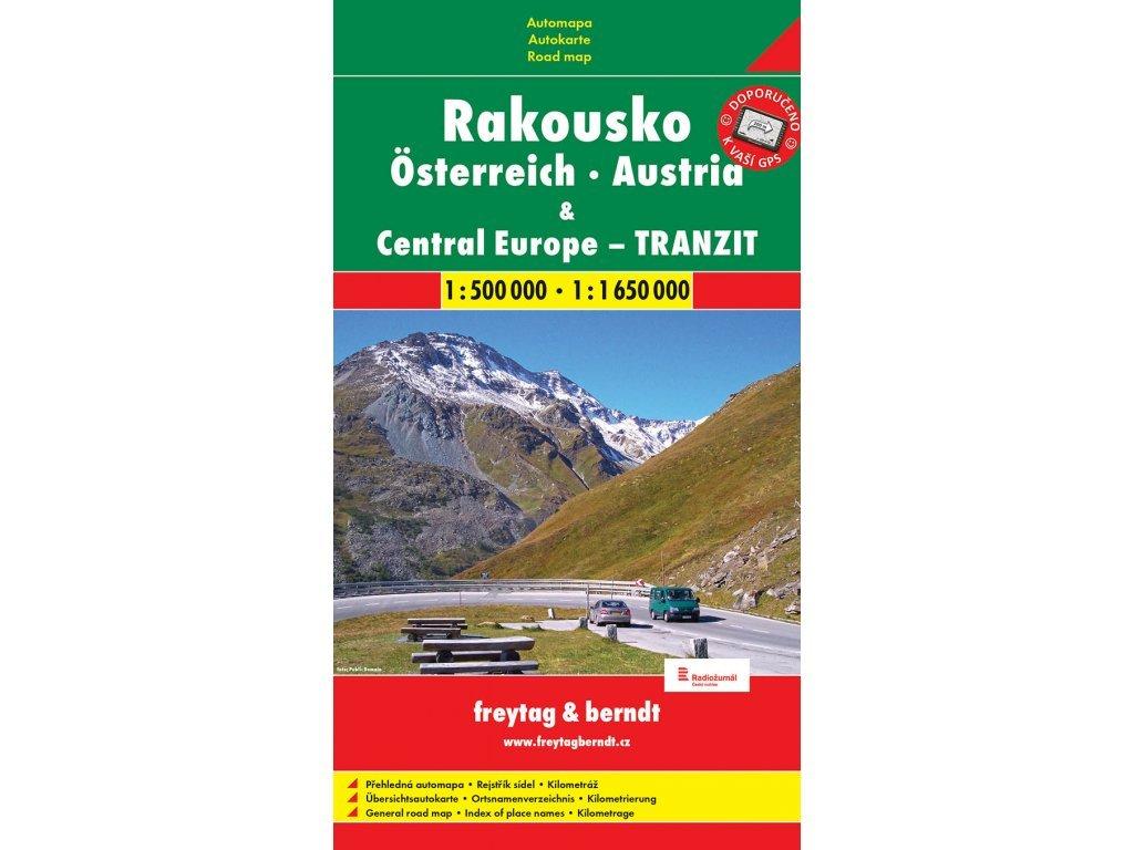 Rakousko - automapa 1:500 000