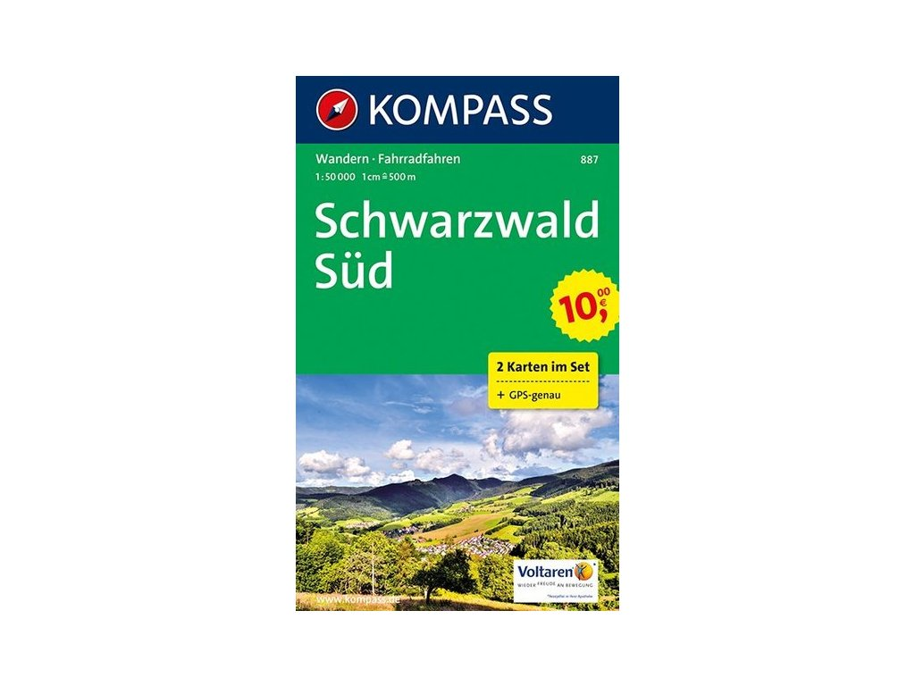 Schwarzwald Süd (set 2 map, Kompass - 887)