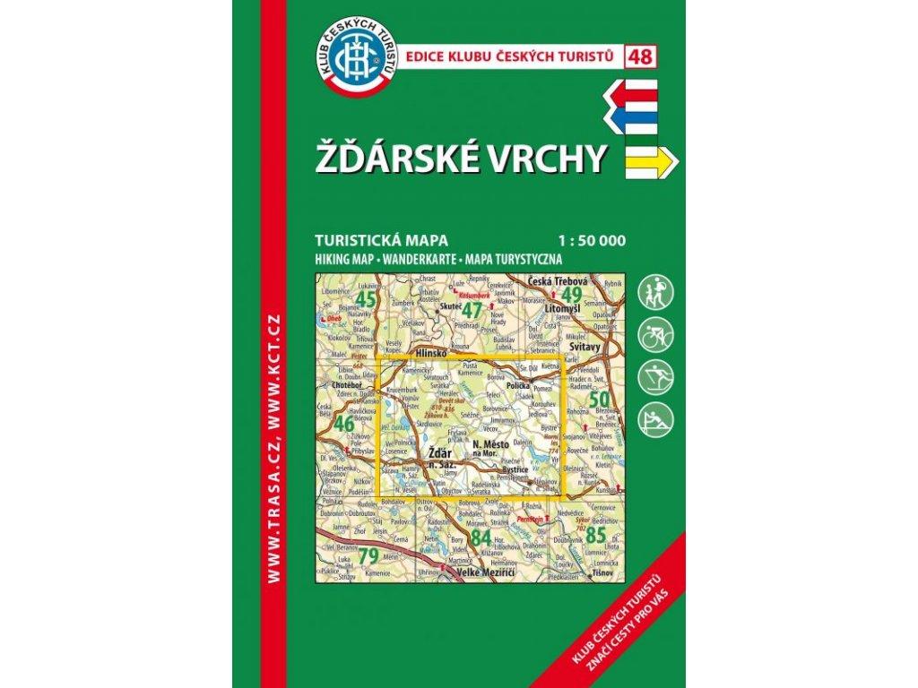Žďárské vrchy -  mapa KČT č.48