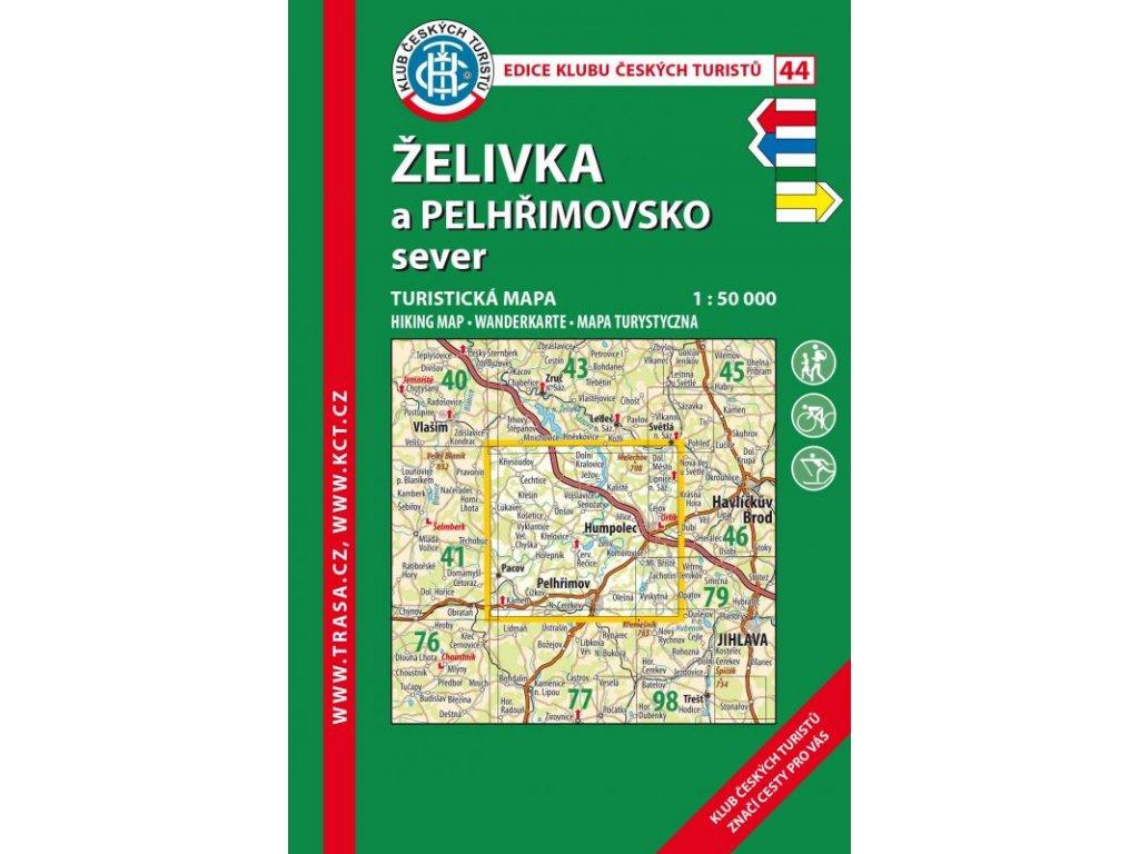 Želivka a Pelhřimovsko sever -  mapa KČT č.44
