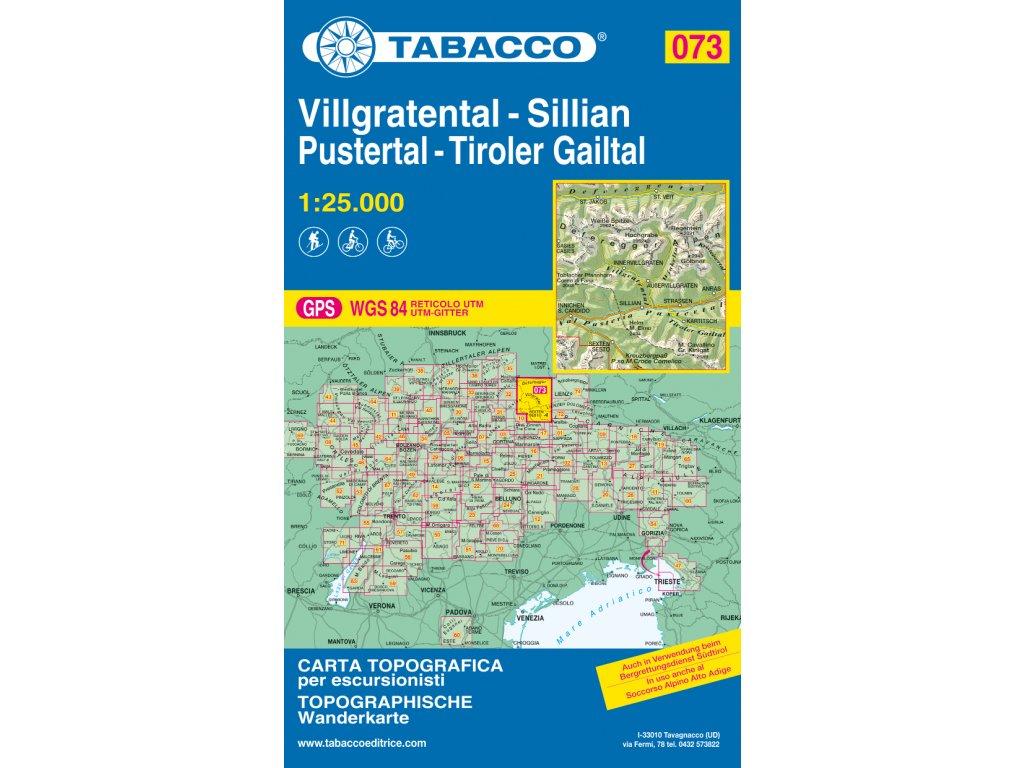 Villgrattental, Sillian, Pustertal, Tiroler Gailtal (Tabacco - 073)