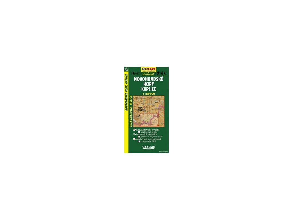 Novohradskéhory,Kaplice (turistická mapa č. 42)