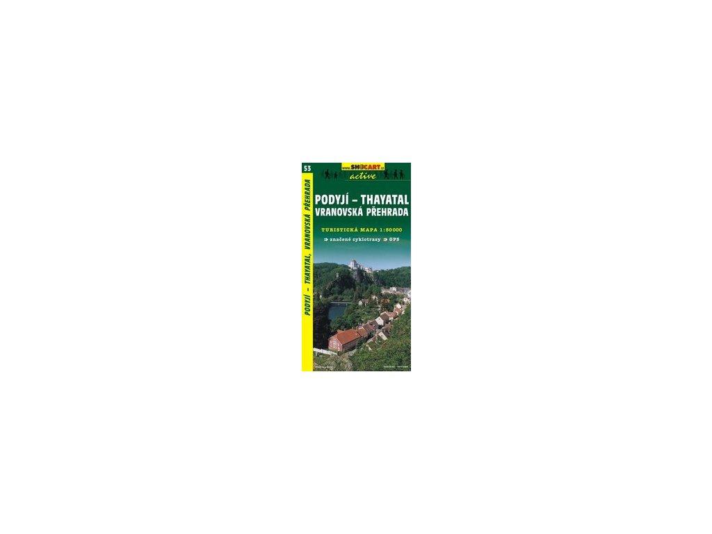 Podyjí, Thayatal,Vranovskápřehrada (turistická mapa č. 53)